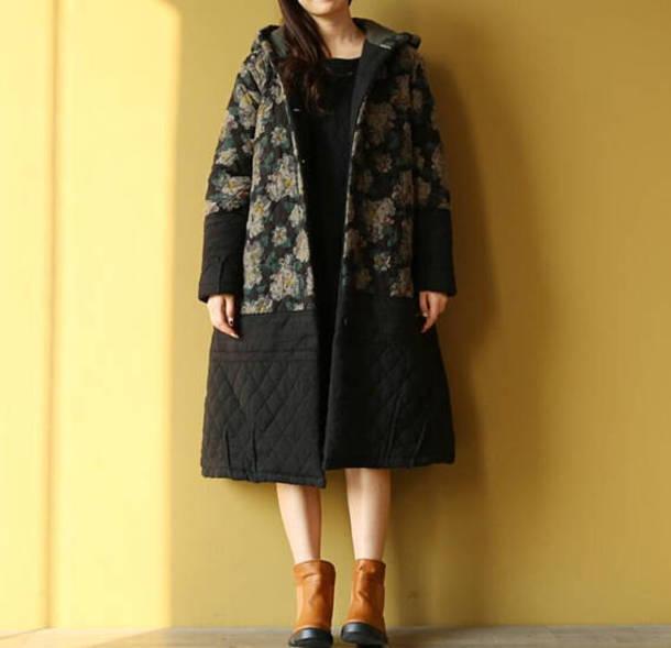 coat long padded coat