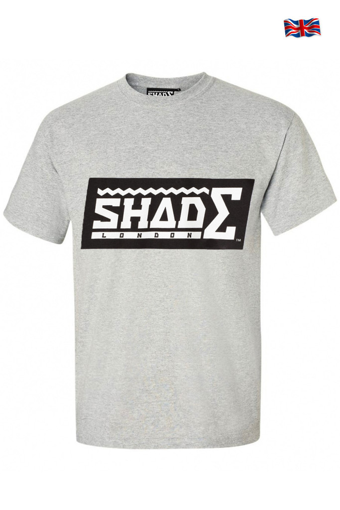 SHADE Short Sleeved T-shirt Contrast Logo - Grey – SHADE London