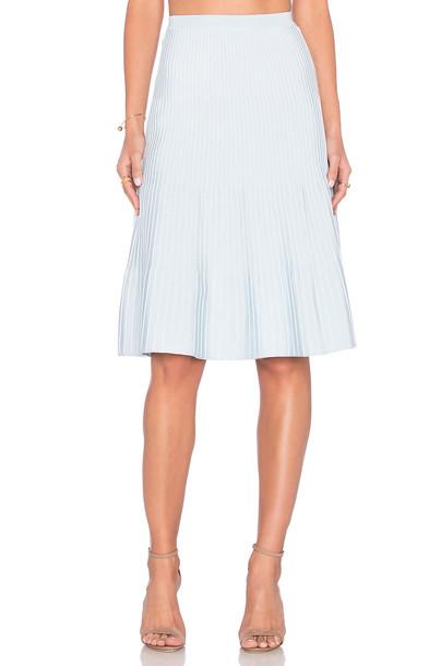 EGREY Ribbed Midi Skirt in blue