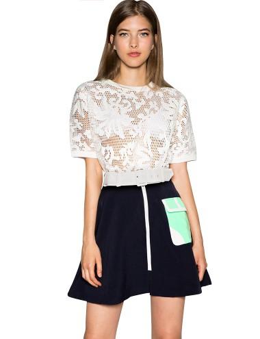 Navy Skater Skirt - Cute A Line Skirt - Vintage Skirts - $60