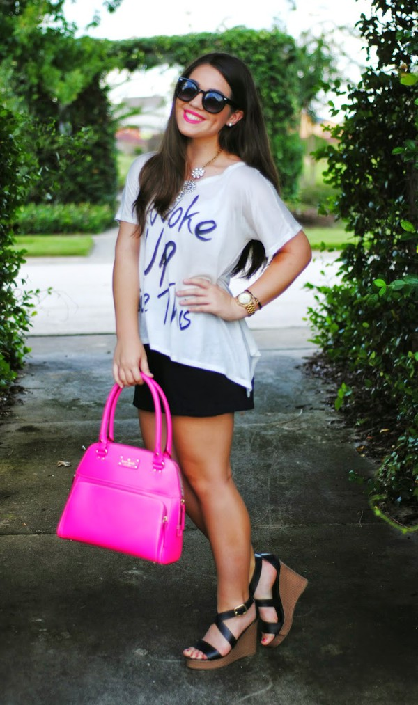 madison lane top shoes bag sunglasses jewels shorts
