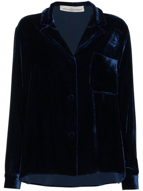 blazer women blue silk velvet jacket