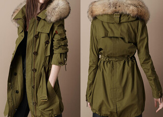 jacket parka military style army jacket coat military fur fur hood