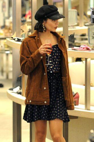 skirt top mini skirt jacket spring outfits vanessa hudgens streetstyle cap blouse