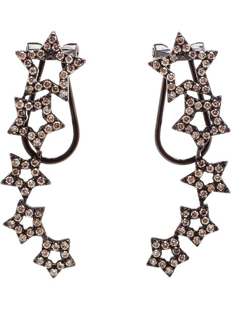 ROSA DE LA CRUZ women earrings gold black jewels