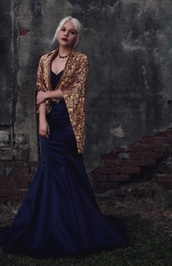styles by hannah riles,blogger,scarf,jacquard,mermaid prom dress,dress,jewels
