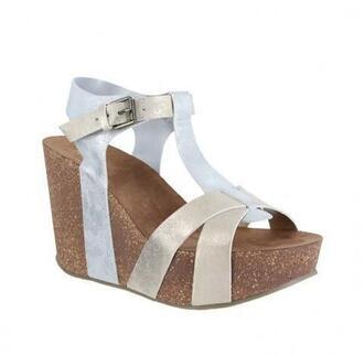 shoes mia shoes silver wedges bikiniluxe