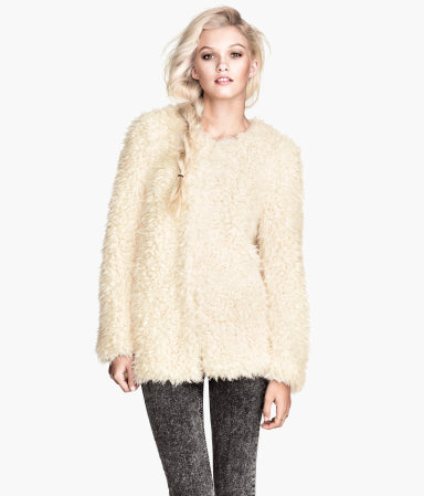 H&M Faux Fur Jacket $59.95