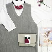 sweater,grey,claret accessories,hopeshop,seasons magazine,hat pin,grey sweater,white shirt,flowers,outfit