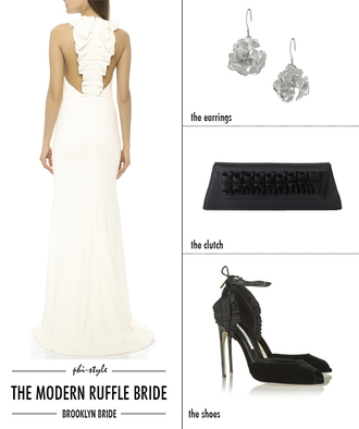 bklyn bride blogger dress jewels bag shoes