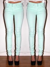 jeans,skinny jeans,aqua,turquoise,green,blue,blue skinny jeans,super skinny jeans,aqua skinny jeans
