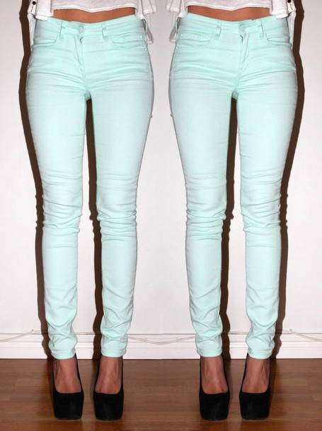 jeans skinny jeans aqua turquoise green blue blue skinny jeans super skinny jeans aqua skinny jeans