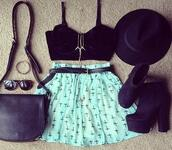 skirt,blue,bright blue,back,hat,bag,glasses,accessories,shoes,black,tank top,jewelry,sunglasses,jewels,mint,cross,belt,shirt,top,blue skirt,bracelets,blouse,light blue,necklace,black tank top,clothes,cute,cross skirt,cross print,purse,i need this help,teal skirt,bustier,handbag,crosses,high waisted,dress,black crop top,high heels,black leather,turquoise,women shoulder bags,crop tops,tuesday',young thug,baby blue,shorts,heels,bralette,style,black birds,make-up,jacket,bralet top,vest,grunge skirt,round sunglasses,black top,bra,sweater,hipster