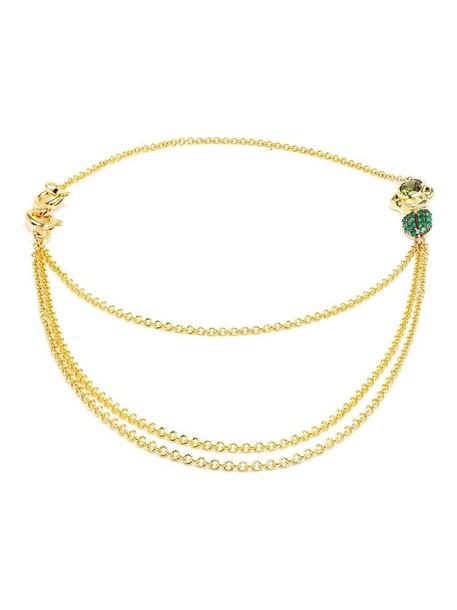 Daniela Villegas gold yellow purple pink jewels