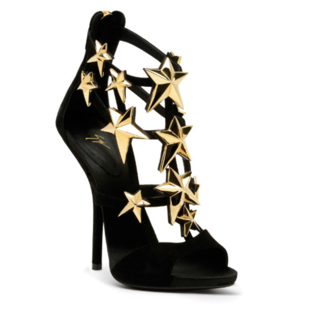 shoes gold gold heels black black heels gold high heels black high heels stars gold stars strap sandals sandals high heels