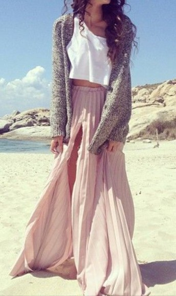 sweater skirt maxi skirt top tank top crop tops