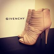 shoes,strappy heels,givenchy,sandal heels,nude high heels,nude,sandals,leather sandals