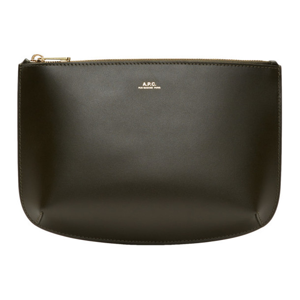 A.P.C. A.P.C. Green Leather Sarah Pouch