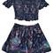 Gypsy print shorts co-ord set