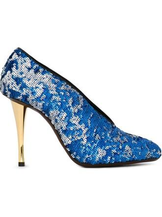 embellished pumps blue shoes