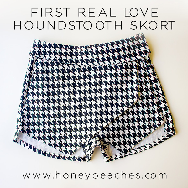 First real love houndstooth skort