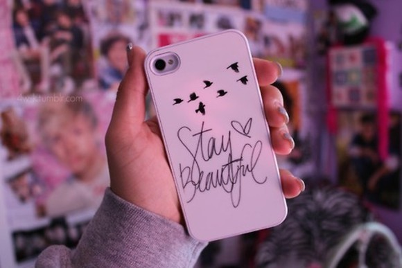 iphone cover phone case phone iphone case bag stay beautiful beautiful