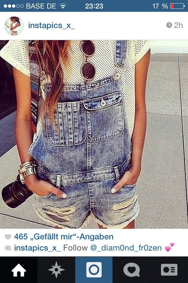jumpsuit jeans t-shirt