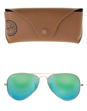 Ray-Ban | Ray-Ban – Pilotensonnenbrille mit grün verspiegelten Gläsern bei ASOS