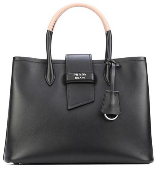 Prada leather black bag