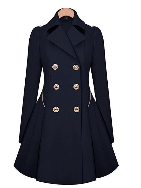 fashion autumn vintage autumndress coat detailed trench coat fall outfits buttons clothes wool coat fashion waem coat winter coat beautiful girl beautiful women classy warm preppy cute sexy new peacoat dress