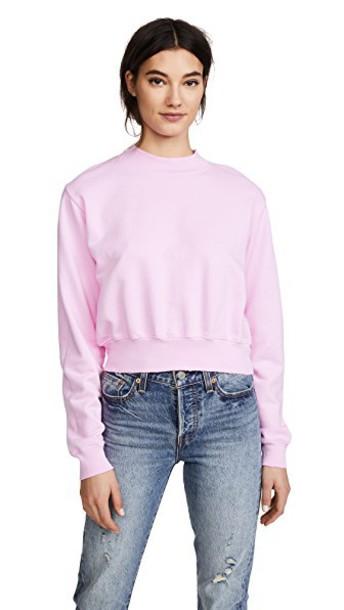 Cotton Citizen sweatshirt cropped light pink light pink sweater