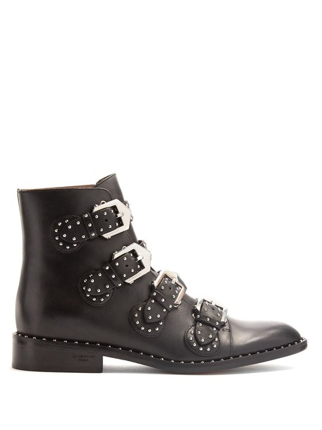 leather ankle boots studded elegant ankle boots leather black shoes