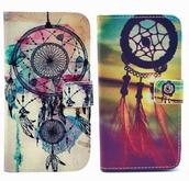 phone cover,iphone 6 plus,pu leather,dreamcatcher
