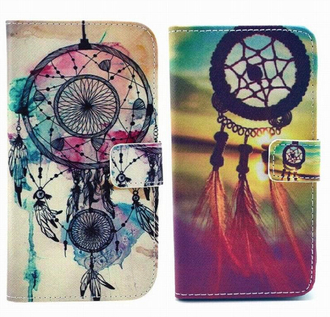 phone cover iphone 6 plus pu leather dreamcatcher