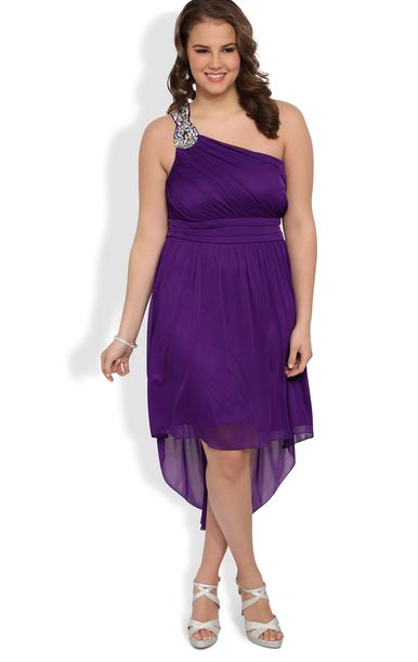 dress, high low, purple dress, plus size homecoming dresses ...