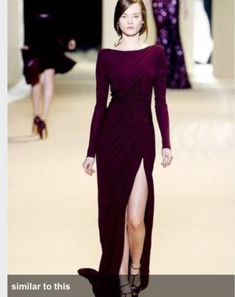 dress maxi dress long sleeves long dress slit dress
