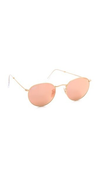 matte sunglasses mirrored sunglasses gold pink brown