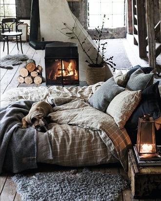 home accessory bedding bedroom boho bedding tumblr bedroom room bed blanket cute brown grid blouse duvet bed  sheets