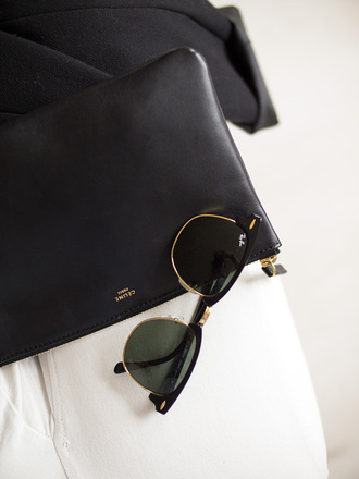 sunglasses rayban raybans glasses black gold trim