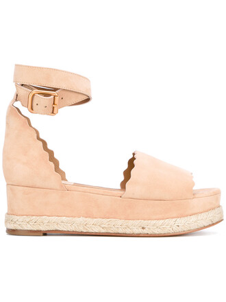 women wedges leather nude suede shoes