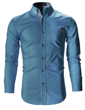 shirt blue shirt menswear workout clothing business casual casual