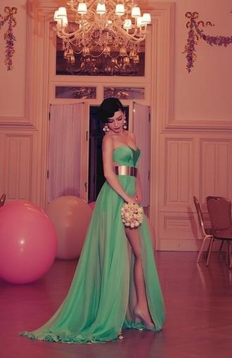 dress prom dress turquoise dress aqua dress long dress long prom dress