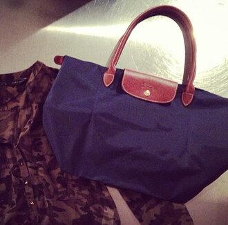 bag leather bag handbag blue handbag