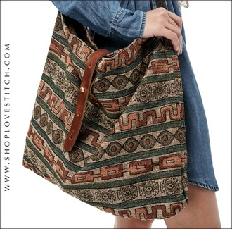 bag purse style fashion tote bag festival aztec boho bohemian