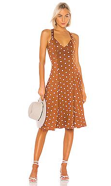 House of Harlow 1960 X REVOLVE Solita Dress in Brown & White Dot from Revolve.com