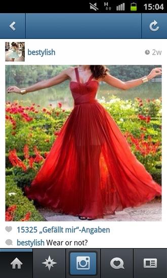 dress maxidress long dress red dress dark red sexy prom dress wonderful dresses cute dress transparent