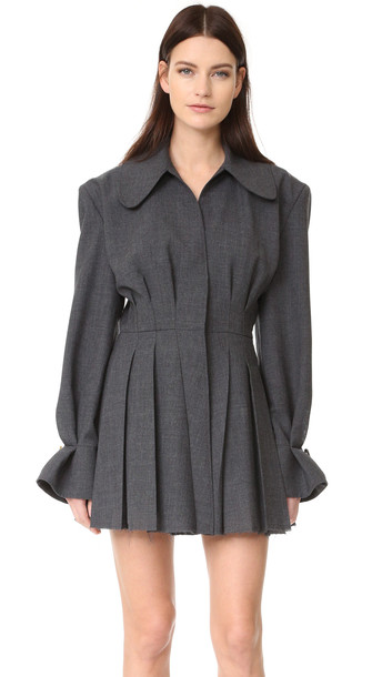 Jacquemus Pleated Dress - Dark Grey
