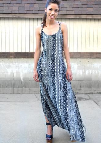 dress maxi maxi dress tribal pattern aztec