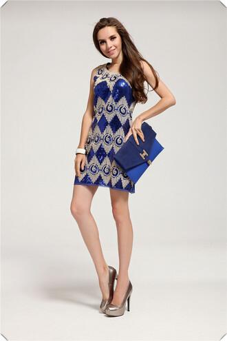 dress sexy dress summer dress blue dress fashion dress sequin dress