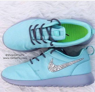 shoes light blue nike running shoes glitter shoes nike shoes blue shoes